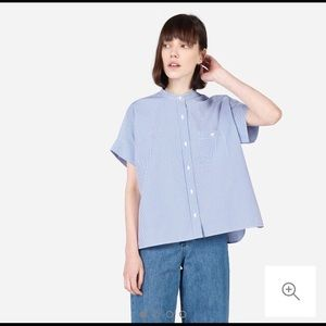 Everlane Cotton Square Short-Sleeve Shirt